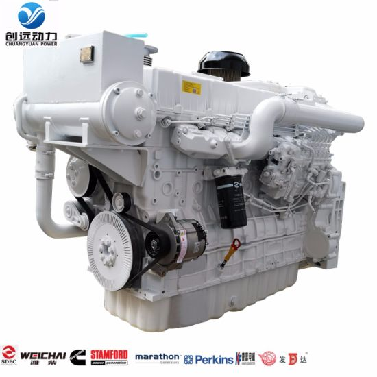 Sdec Direct Injection Used 6 Cylinder 55HP 460HP 600HP 735HP Ship Boat Marine Diesel Engine (SC12E460.1P2)