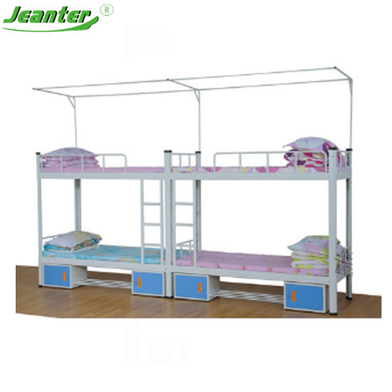 Simple Style High Quality Modern Steel Metal Bunk Bed for Bedroom Furniture