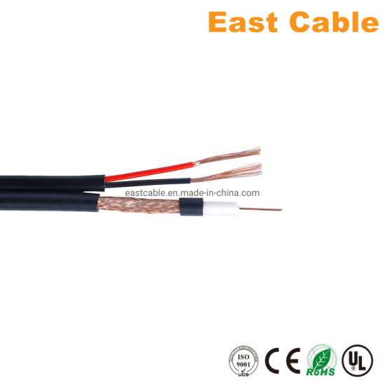 Coaxial Cable Cu CCA CCS Rg59 +2c Power Wire for Setellite/Monitor/CCTV with Ce RoHS Standard