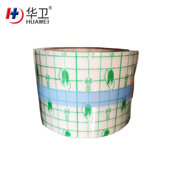 Hypoallergenic PU Film Materials Used for Transparent Wound Dressing with S Cutting