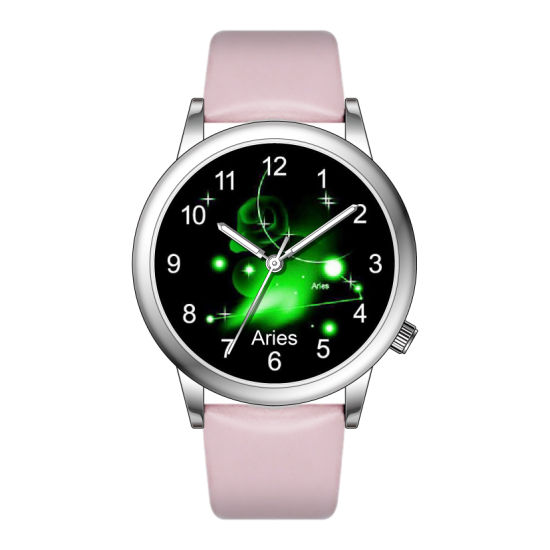 Fashion Twelve Constellation Ladies Leather Quartz Watch for Gift (JY-AL007B) pictures & photos