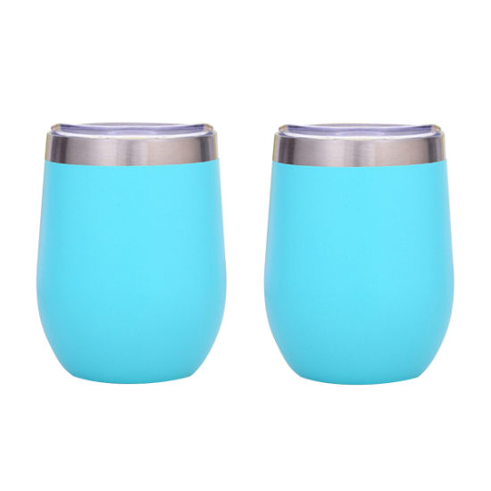Wevi Double Wall Vacuum Insulated Wine Tumbler with Leakproof Lid
