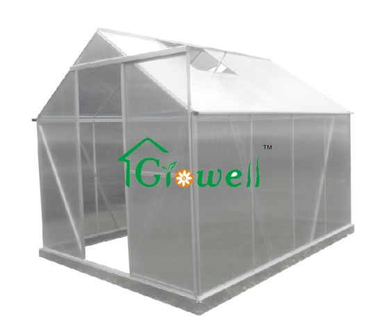 Growell Greenhouse 4mm Polycarbonate Panel Walk-in Hobby Garden Greenhouse (P6) 6' X 8'