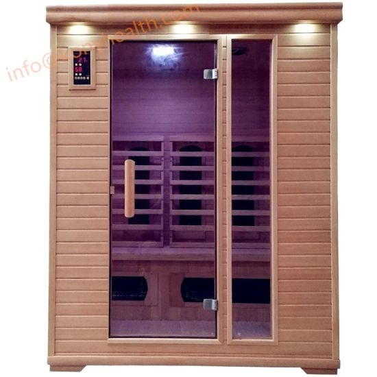 Far Infrared Sauna with Combined Heater Made of Solid Wood