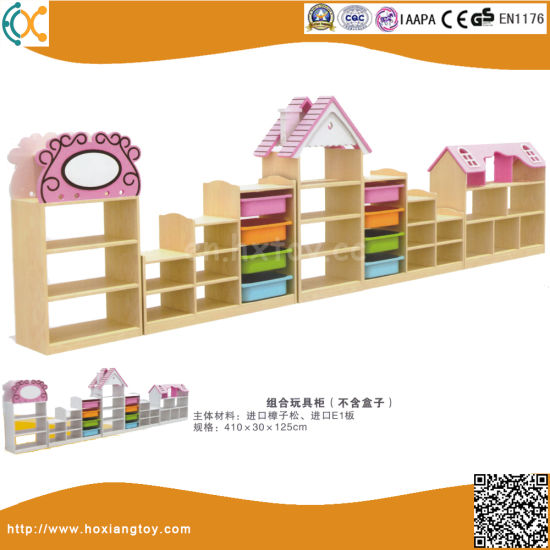 Children Kindergarten Wooden Toy Shelf