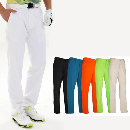 Mens High Quality Outdoor Sport Running Casual Blank Plain Golf Pants