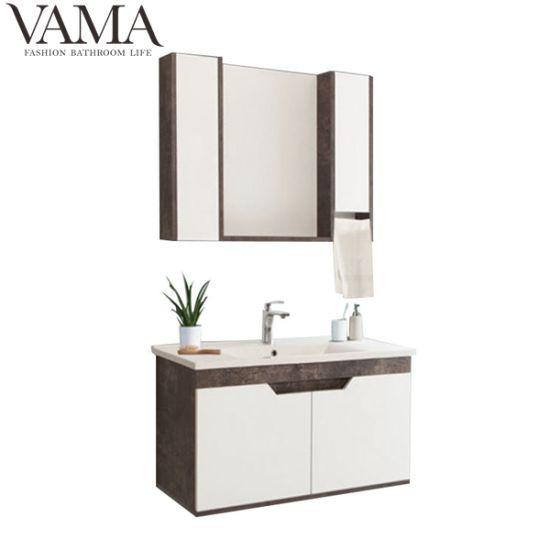 Vama 80cm Modern Ready Made Floating Bathroom Vanity with Mirror Cabinet in Foshan Lb-008