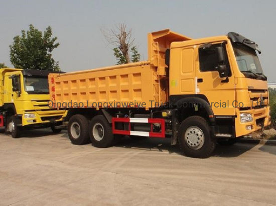 Excellent Condition 6*4 10tires Sinotruk HOWO Used Dumping Trucks with Low Price for African