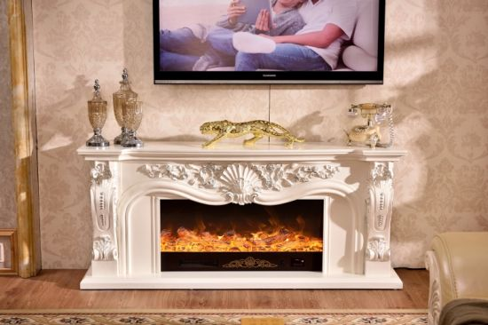 Insert Heater Electric Fireplace With Blower Shelves Mantel Wood