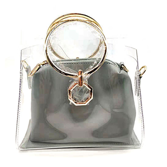 2019 Women Female Wholesale Single Shoulder Bag Clear PVC Bag