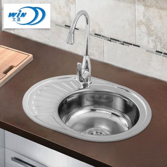 China New Design Kitchen Sink Big Bowl 201 304 Stainless Steel Laundry Use 570 450mm China Kitchen Basin Water Tank