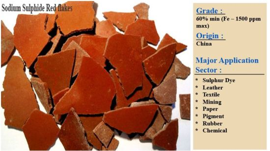 Red Flakes Sodium Sulphide 150ppm /300ppm/1500ppm