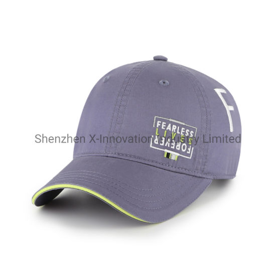 Hot Sale Cotton Fashion Sequins Flat Embroidery Logo Sports Baseball Cap Hats pictures & photos