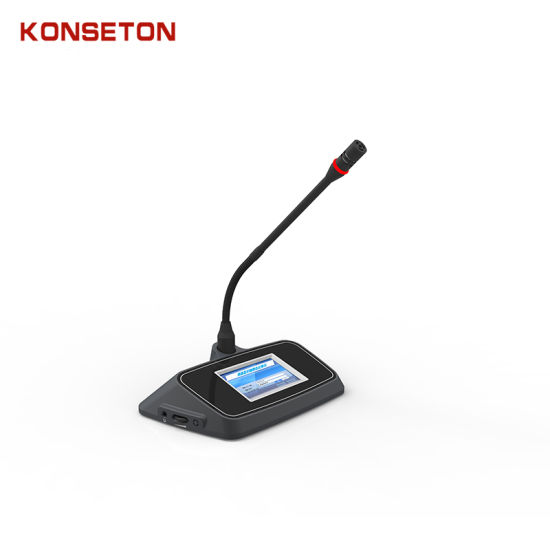 Kst-M202h Tabletop 3.5 Inch Touch Screen Conference System Microphone