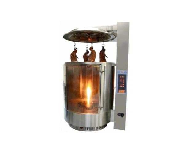 Chinese Style Gas Display Autorotation Duck Oven (lifting top cover)