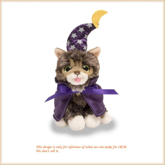 Halloween Home Ornamentation Witch Cat Toy Kitten Doll