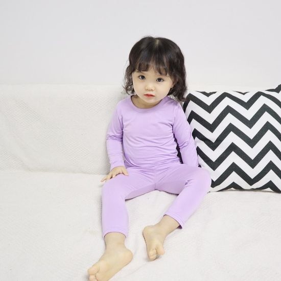 Children Cotton Sleepwear Sets China Factory Long Sleeve Suit Pajamas for Girls