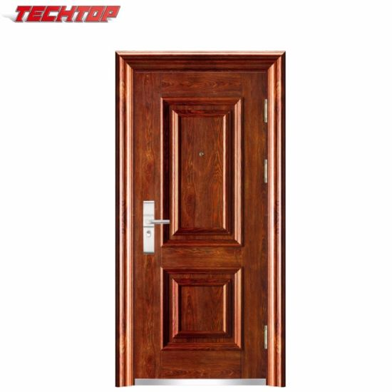 Tps 036 China Factory Wholesale Grill Stainless Safety Door Design In Metal Safety Iron Main Door Designs