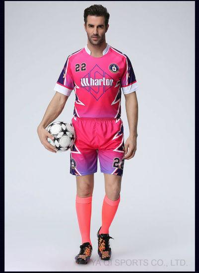 100% Polyester OEM Sublimation Custom Team Soccer Jersey Manufacturer  Wholesale fef54cc1d