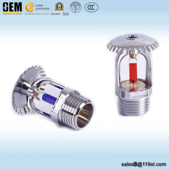 OEM Zinc or Brass Material Upright Fire Sprinkler