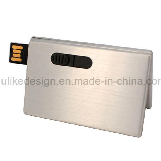 Metal USB 2.0 Name Card USB Pen Drive Customized Color Logo Printing USB Flash Drive
