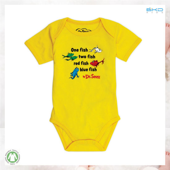 Yellow Color Baby Clothes Custom Size Baby Onesie