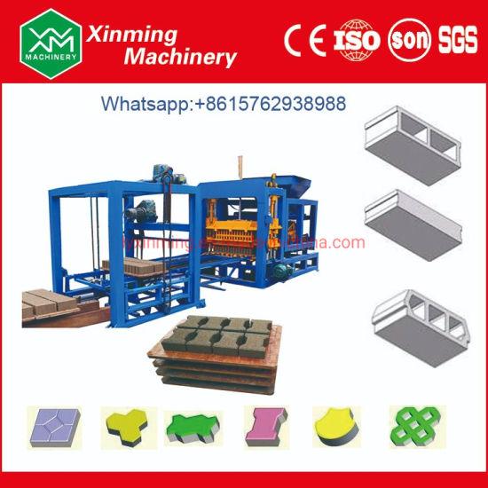Qt4-15 Automatic Construction Machinery Concrete Hollow Block Machine/Building Block Cement Brick Moulding Making Manufacturing Machine for Sale