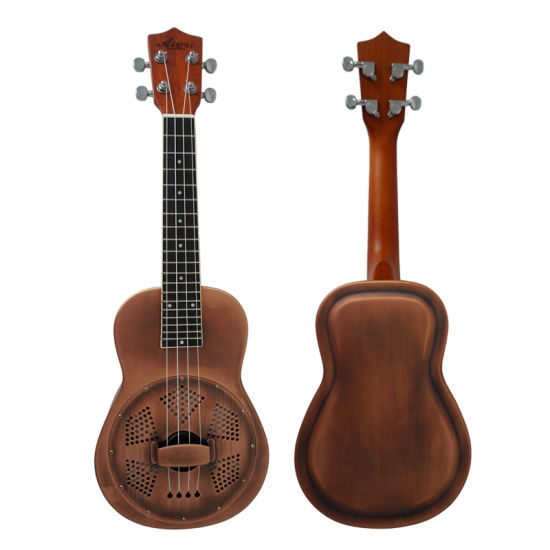 Cheap Price Nrp Brass Steel Body Concert Resophonic Ukulele pictures & photos