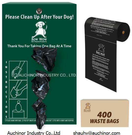 Eco-Friendly Biodegradable Plastic HDPE Tabbed Dog Poop Bags pictures & photos