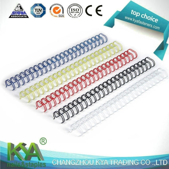 China Double Loop Book Binding Spiral Wire