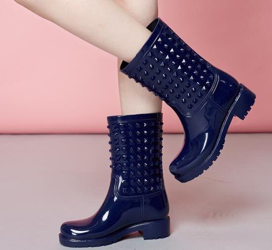 Ladies Fashion PVC Rain Shoes