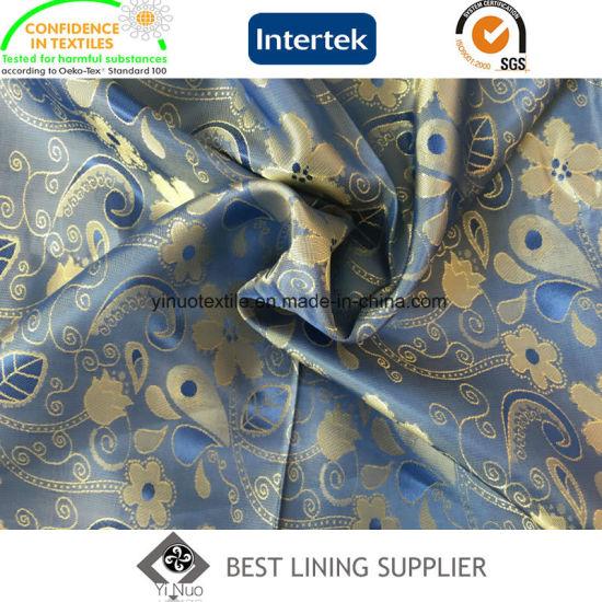 New T/R Men's Suit Jacket Jacquard Lining Fabric Manufacturer