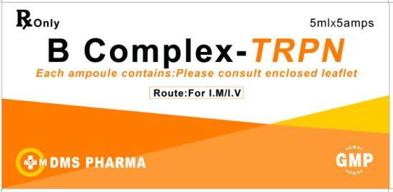 B Complex Injection Thiamine Riboflavin Pyridoxine Niacinamide
