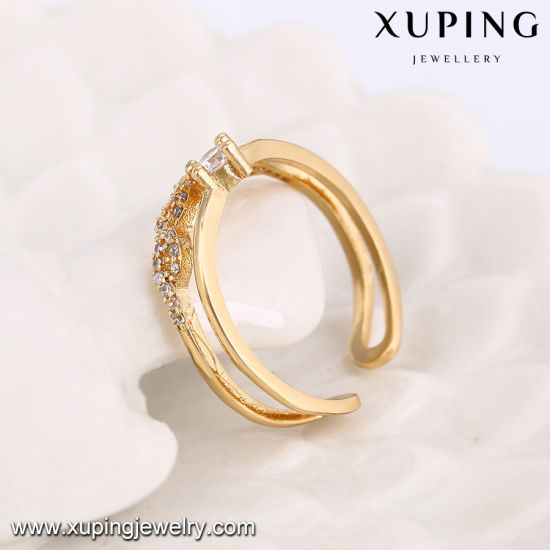 14118 Fashion CZ Finger Open Ring in 18k Gold Plating pictures & photos
