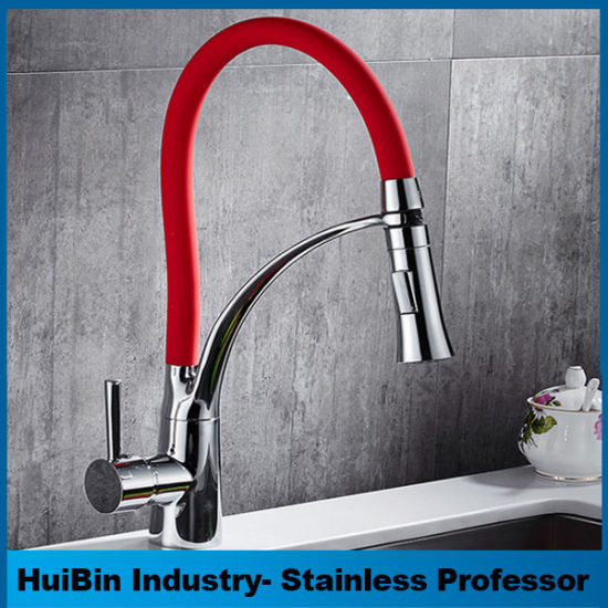 Long Neck Black Silicone Tube Flexible New Kitchen Sink Faucet