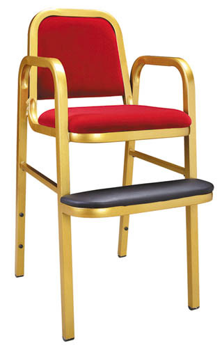 Durable Red Fabric Kids Dining Chair for Restaurant