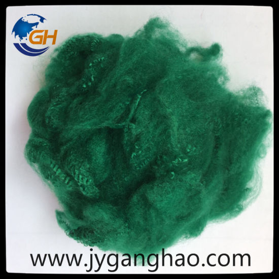 Polyester Staple Fiber in Dark Blue