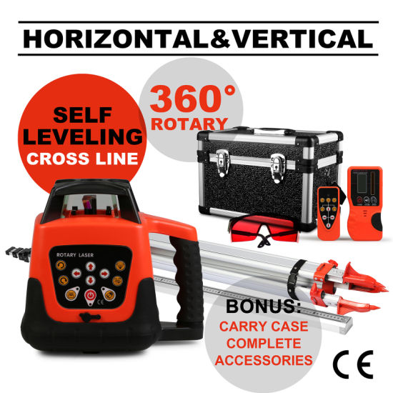 Self-Leveling Cross Line Automatic Red Rotaryr Red Laser Level pictures & photos
