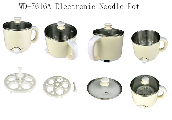 Hot Sale Beige Color Mini Multifunction Stainless Steel Electric Cooking Pot