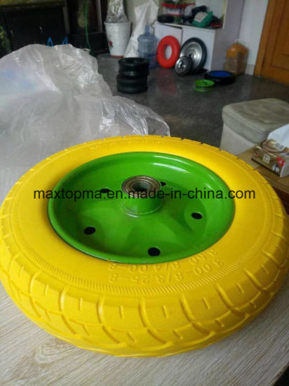 Sunstar Quality Color PU Foam Wheel pictures & photos