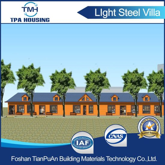 2 Floor Light Steel Structure Prefab House Building pictures & photos