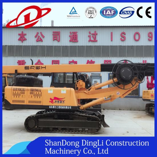 Small Crawler Hydraulic Water Well Rotary Excavating Pilling Rig Machine for Ce with Cummins Engine pictures & photos
