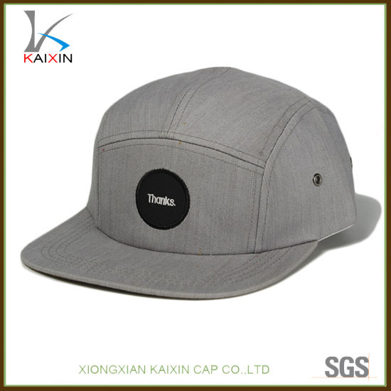 b3182b5dda9 China Custom Grey Caps Small Order Plain 5 Panel Snapback Hat ...