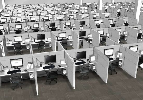 Number of square meters of office space per employee flexas
