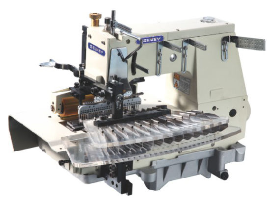Sk1433ptv Flat-Bed Double Chain Stitch Sewing Machine