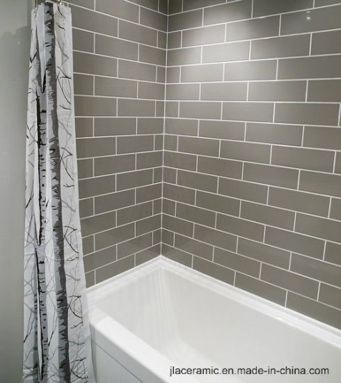 Grey 4X12inch/10X30cm Bathroom Wall Tile Wall Covering Ceramic Stone Tile  Porcelain Tile