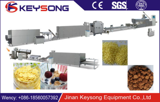 American Corn Flakes Making Extruder Equipment Line Cereals Food Machine pictures & photos