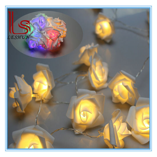 wholesale christmas valentines day gifts decorations romantic 20 roses led light string - Wholesale Christmas Gifts