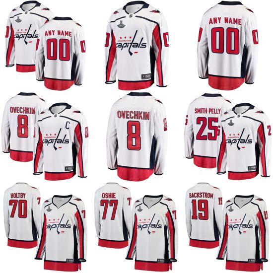89f0f8981 Washington Capitals White 2018 Stanley Cup Champions Away Breakaway Hockey  Jerseys
