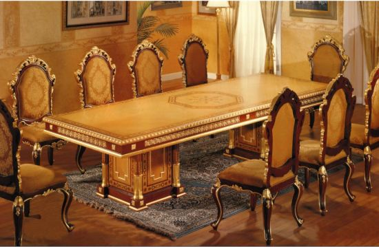 Luxury Dining Furniture For Star Hotel/European Style Restaurant Sets  (GLD 055)
